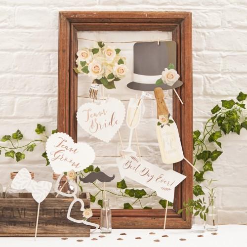 Photo Booth Wedding Props-10 pcs-Beautiful Botanics