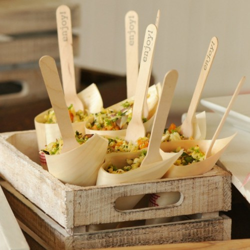 Ξύλινα Χωνάκια Σερβιρίσματος-Wooden Food Cone (10pcs)