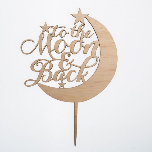 Cake Topper To The Moon And Back-Διακοσμητικό Τούρτας Για Γάμο Και Γενέθλια Και Showers