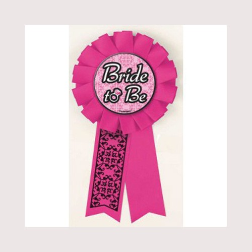 """Bride To Be"" Award Ribbon-Bachelorette By Unique"