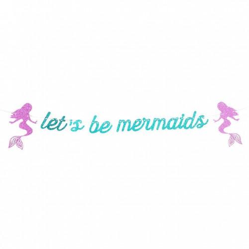Χάρτινη Γιρλάντα Γκλίτερ Let's be mermaids
