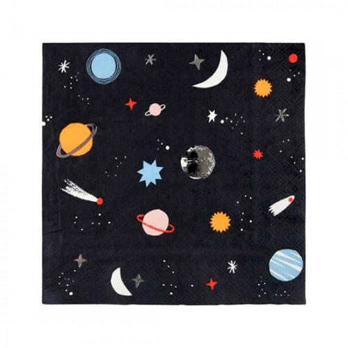 Χαρτοπετσέτες Γλυκού Διάστημα - Space Napkins Meri Meri