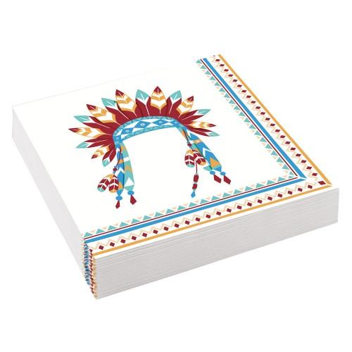 Χαρτοπετσέτες Ινδιάνοι Tepee & Tomahawk