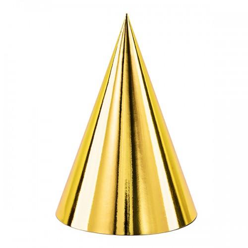 Χάρτινα Καπέλα Χρυσά Μεταλλικά PartyDeco