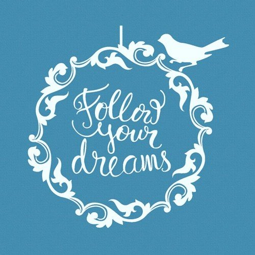 Follow Your Dreams Stencil-Στένσιλ Μπισκότου-Crystal Candy