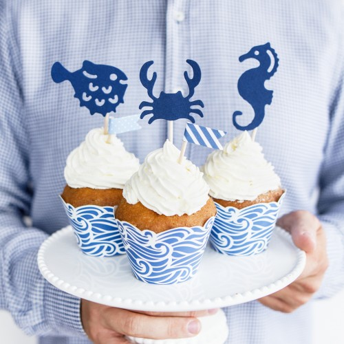 Cupcake Toppers Θέμα Καλοκαιρινό PartyDeco