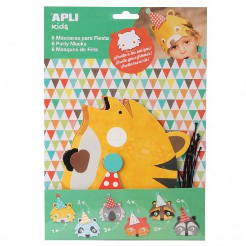 Παιδικά Προσκλητήρια Σε Μάσκες Ζώων -Party Invitation Masks