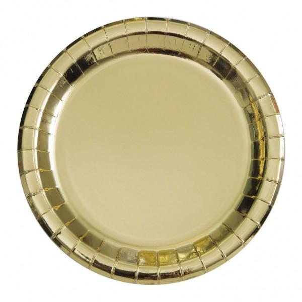 8d2b5ad9b53 Στρογγυλά Foil Χρυσά Πιάτα Φαγητού | party alphabet